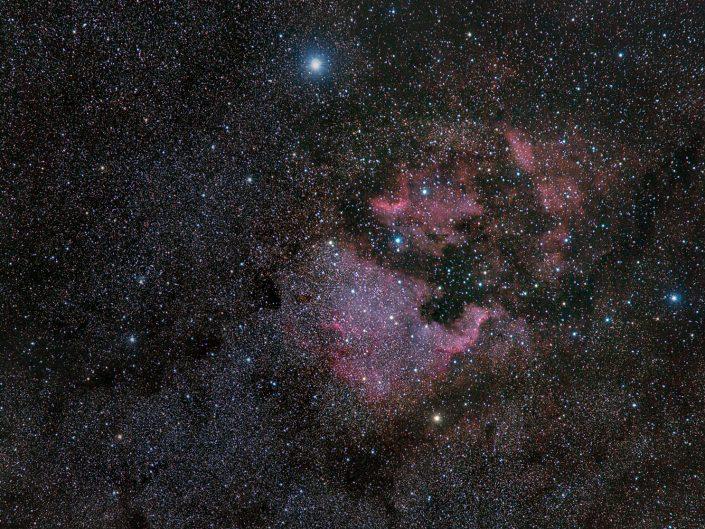 NGC 7000 (North America Nebula) & IC 5067 (Pelican Nebula) - Wide Field