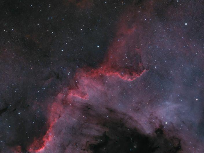 Cygnus Wall in NGC 7000 (North America Nebula)